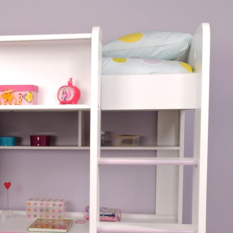 hochbett judy wei lila hochglanz home24. Black Bedroom Furniture Sets. Home Design Ideas
