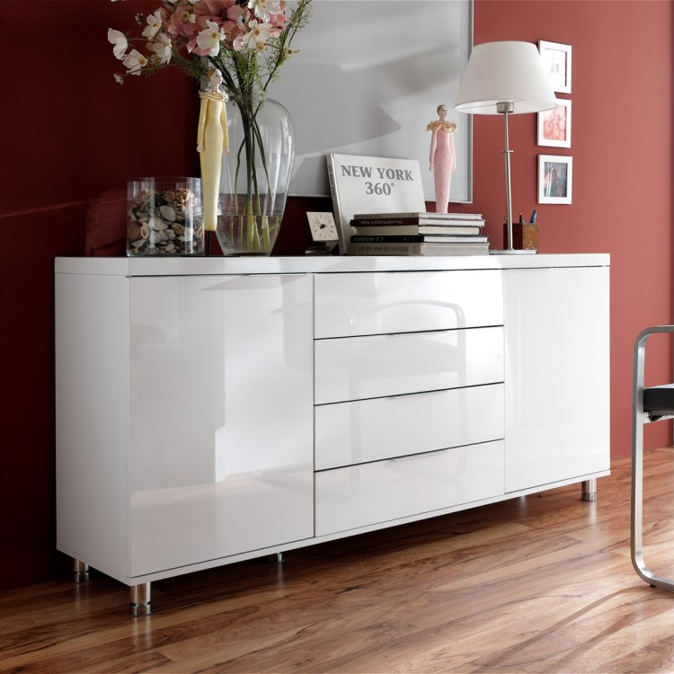 sideboard hudson wei hochglanz home24. Black Bedroom Furniture Sets. Home Design Ideas