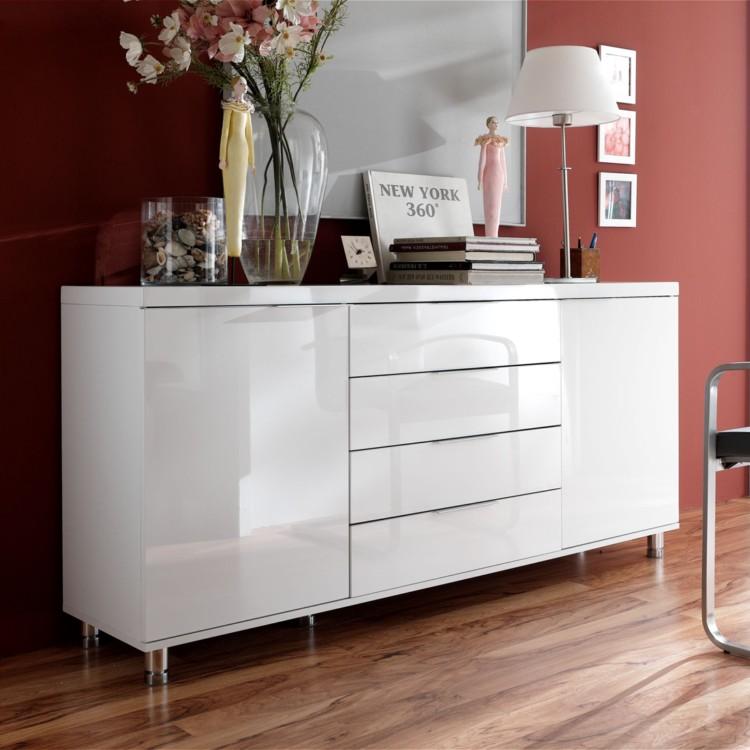 sideboard hudson wei hochglanz home24. Black Bedroom Furniture Sets. Home Design Ideas