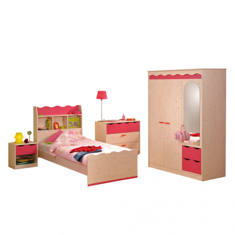 kinderzimmerm bel sweet 5 teilig pink online kaufen home24. Black Bedroom Furniture Sets. Home Design Ideas