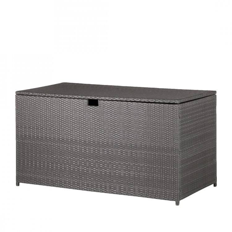 gartentruhe rattan grau kissenbox auflagenbox garten kiste box auflagenbox neu ebay. Black Bedroom Furniture Sets. Home Design Ideas