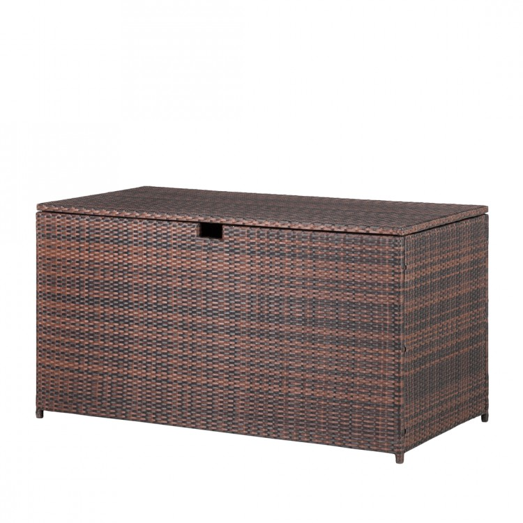 gartentruhe rattan braun kissenbox auflagenbox garten kiste box auflagenbox neu. Black Bedroom Furniture Sets. Home Design Ideas