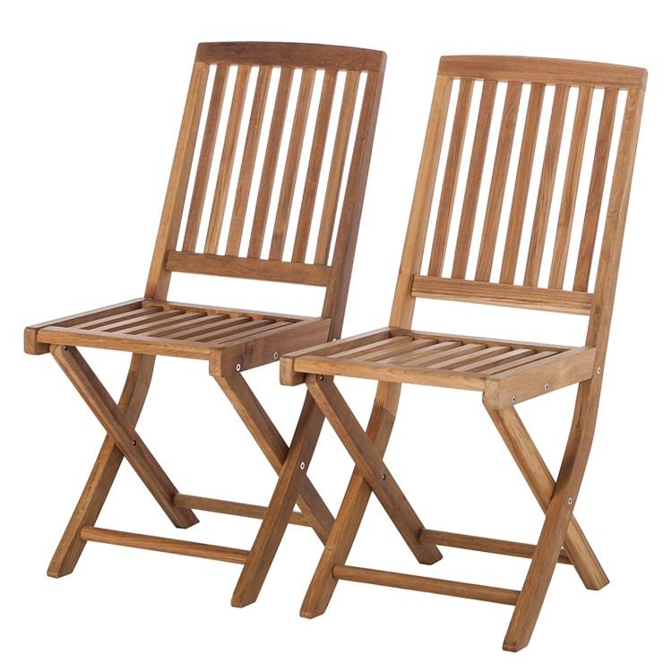 2er set gartenst hle teakholz klappstuhl gartenm bel essgruppe garten stuhl neu. Black Bedroom Furniture Sets. Home Design Ideas