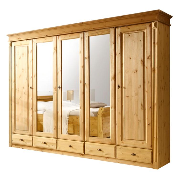 kleiderschrank cenan v kiefer massiv home24. Black Bedroom Furniture Sets. Home Design Ideas