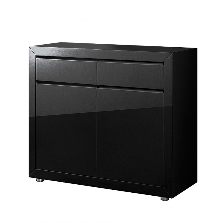 kommode fina hochglanz schwarz home24. Black Bedroom Furniture Sets. Home Design Ideas