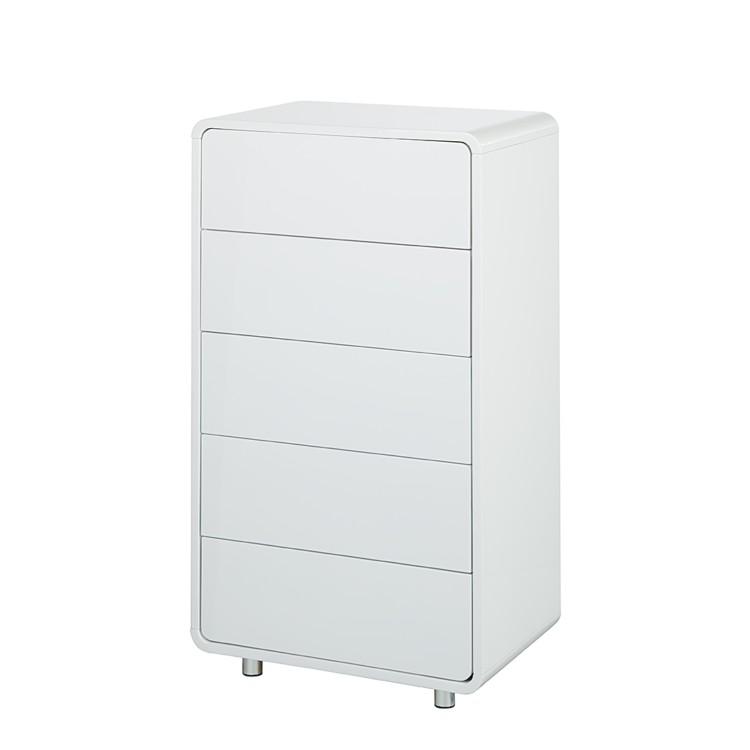 kommode kasy 3 wei hochglanz home24. Black Bedroom Furniture Sets. Home Design Ideas