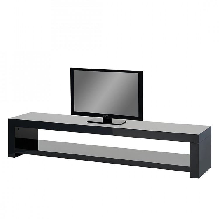 tv rack lowboard schwarz hochglanz fernsehtisch tv hifi. Black Bedroom Furniture Sets. Home Design Ideas