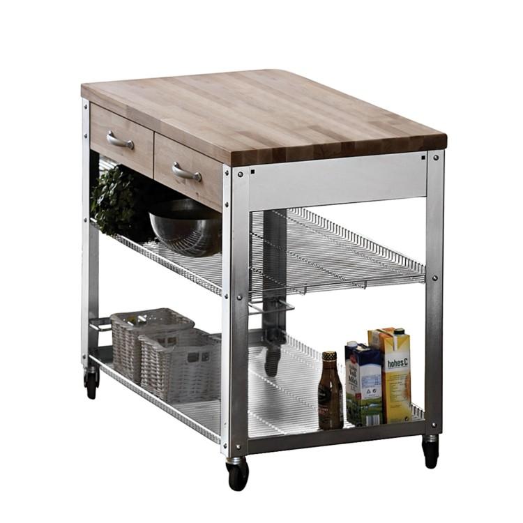 k chenwagen cook 100 rollbar home24. Black Bedroom Furniture Sets. Home Design Ideas
