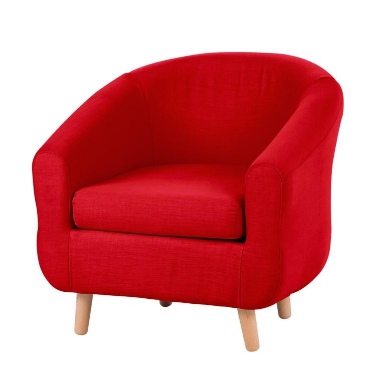 sessel little webstoff rot kaufen home24. Black Bedroom Furniture Sets. Home Design Ideas
