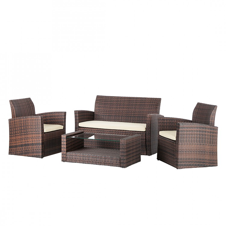 lounge set paradise beach 4 teilig polyrattan kaufen home24. Black Bedroom Furniture Sets. Home Design Ideas