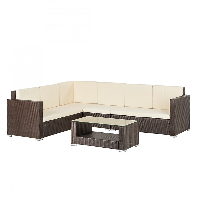 gartensofa set 5 teilig polyrattan sitzgruppe garten couch. Black Bedroom Furniture Sets. Home Design Ideas