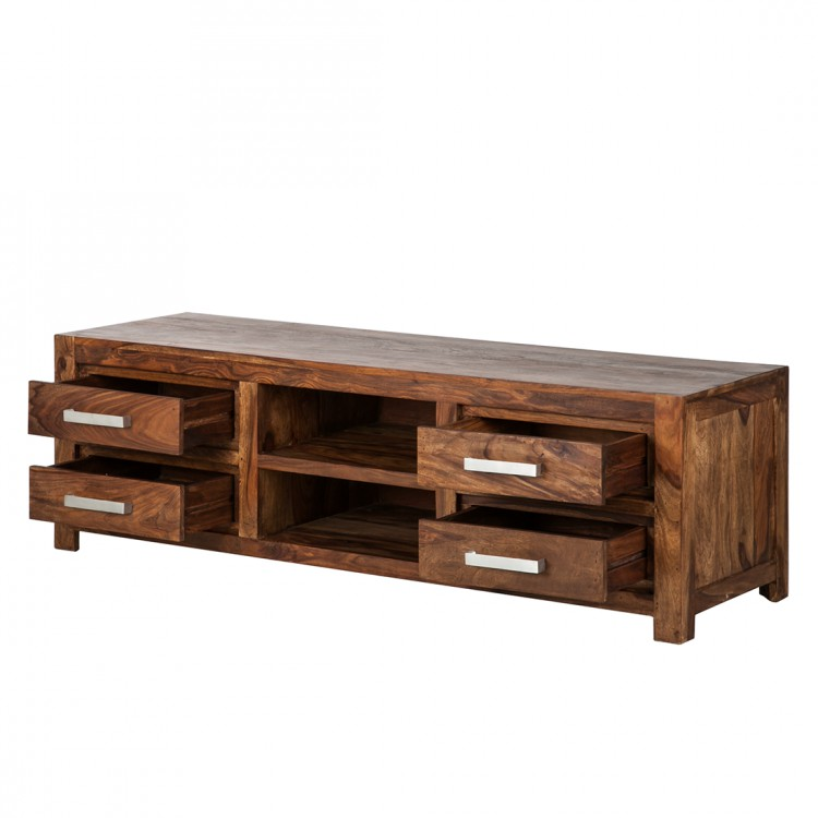 lowboard tv rack sheesham massivholz fernsehtisch hifi tv board schrank neu ebay. Black Bedroom Furniture Sets. Home Design Ideas