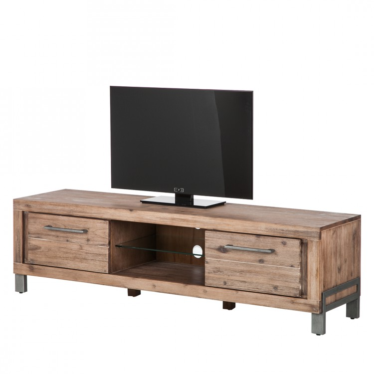 buffet bas tv zenta bois massif acacia. Black Bedroom Furniture Sets. Home Design Ideas