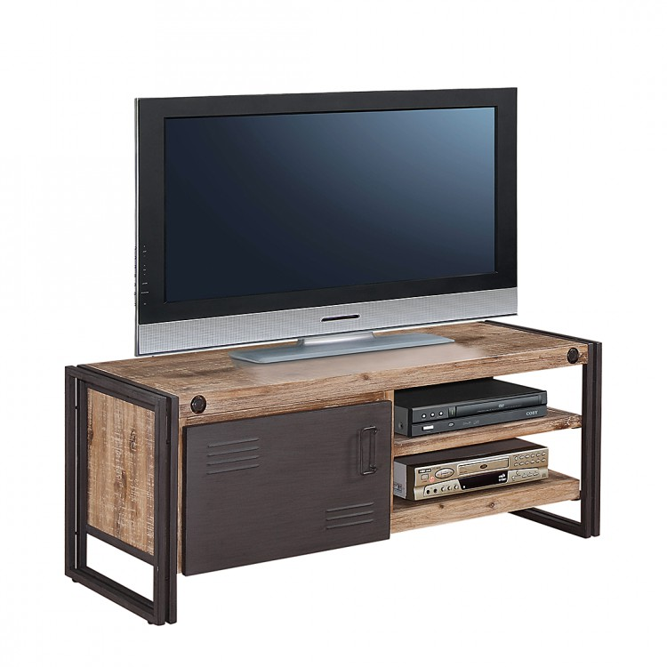 tv lowboard akazie metall anthrazit tv rack fernsehtisch. Black Bedroom Furniture Sets. Home Design Ideas