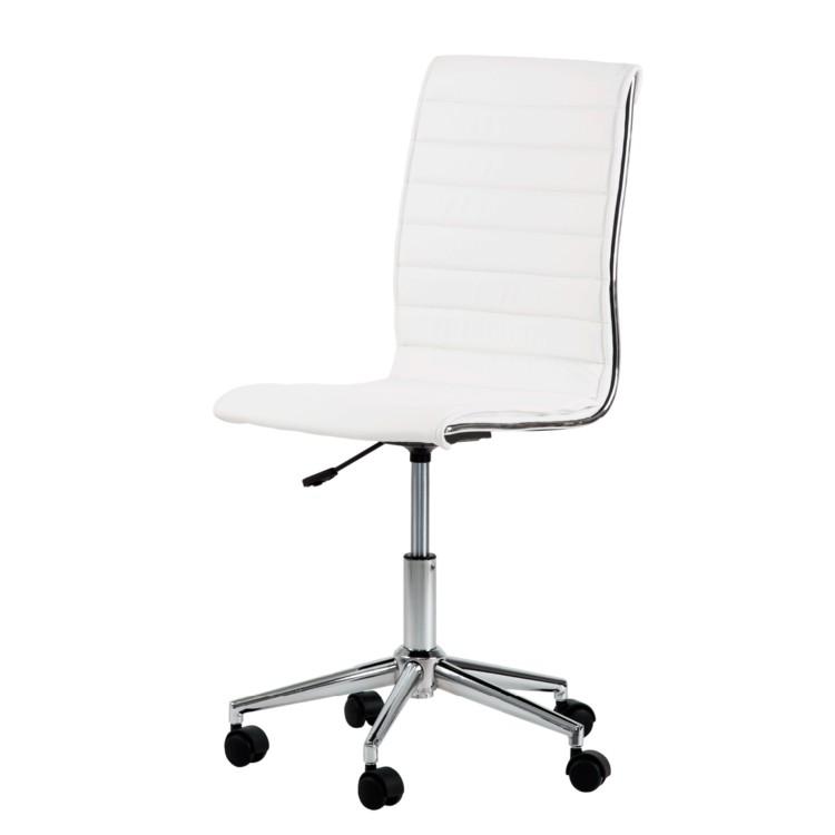 Chaise de bureau pivotante marilyn cuir synth tique - Chaise de cuisine pivotante ...