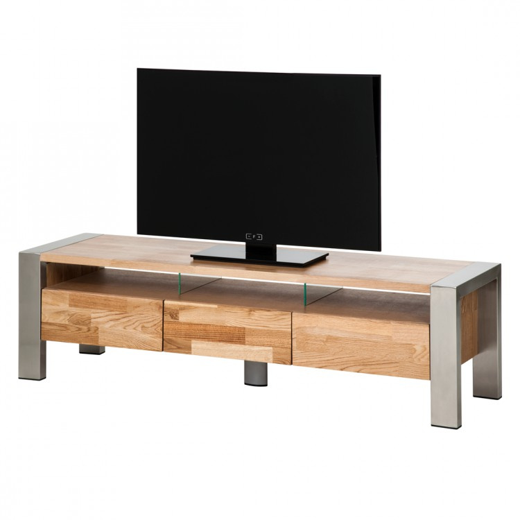 neu lowboard noah tv tisch schrank eichenholz massiv fernsehtisch home24. Black Bedroom Furniture Sets. Home Design Ideas