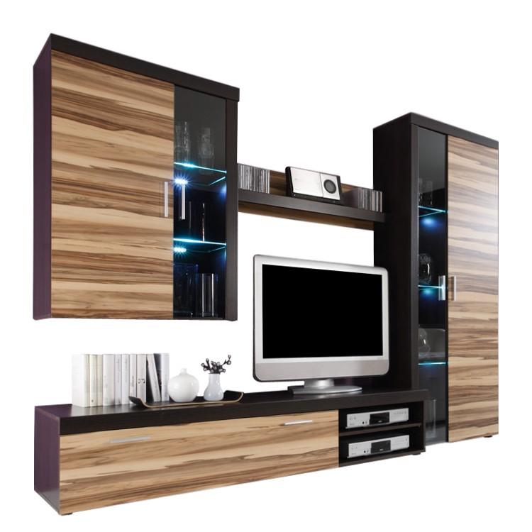 Wohnwand baltimore walnuss schoko die neuesten for Moderne wohnzimmer schrankwand