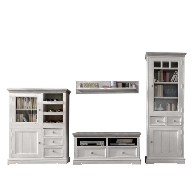 opera wohnwand 4 teilig kiefer massiv home24. Black Bedroom Furniture Sets. Home Design Ideas