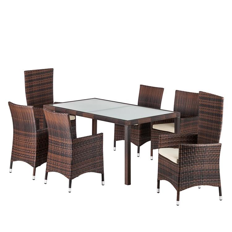 gartenm belset paradise gismo 7 teilig braun kaufen home24. Black Bedroom Furniture Sets. Home Design Ideas