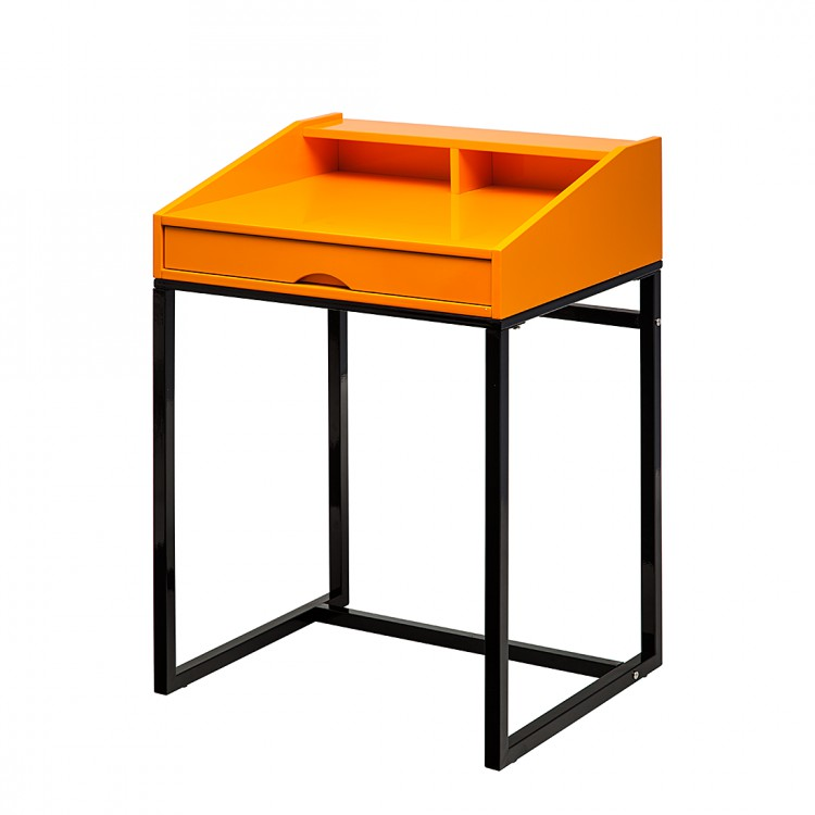neu orange schwarz sekret r holz metall top tisch home24 ebay. Black Bedroom Furniture Sets. Home Design Ideas