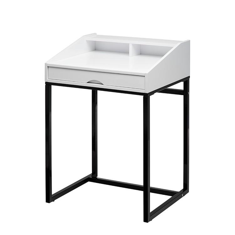 sekret r wei schwarz metall holz tisch schreibtisch neu. Black Bedroom Furniture Sets. Home Design Ideas