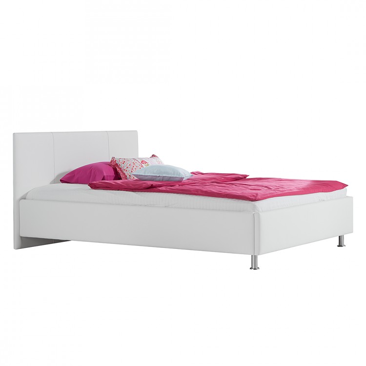 lit capitonn naomi sommier lattes d roulable et matelas ressort inclus. Black Bedroom Furniture Sets. Home Design Ideas