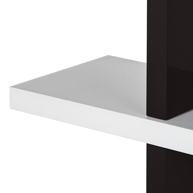 wandrek regal check wit zwart. Black Bedroom Furniture Sets. Home Design Ideas