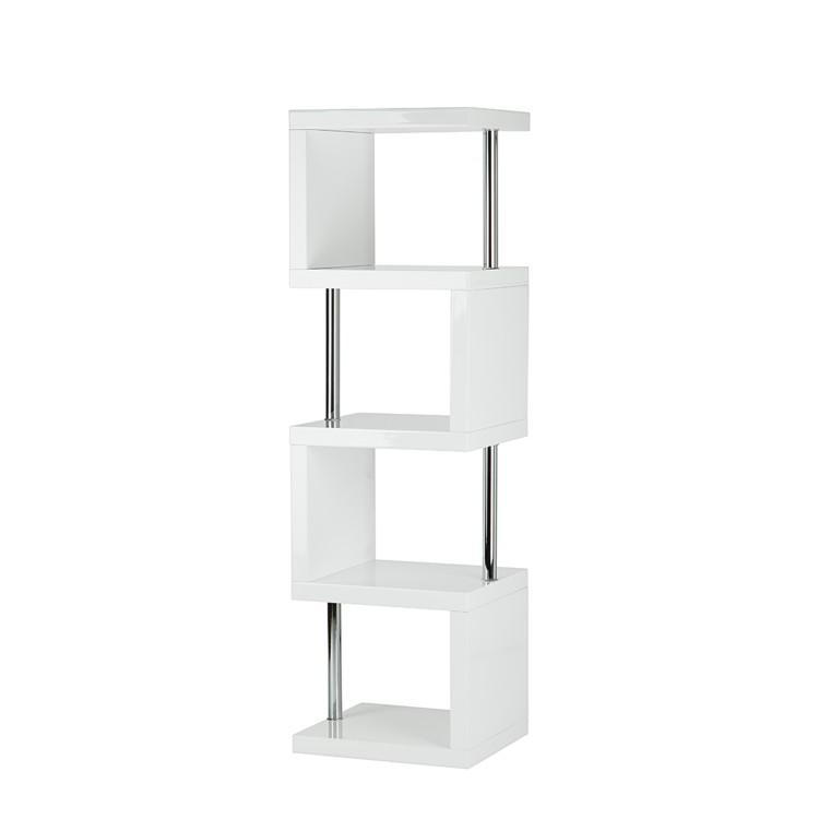 regale buecherregale bibliotheken regal milano schmal hochglanz weiss. Black Bedroom Furniture Sets. Home Design Ideas