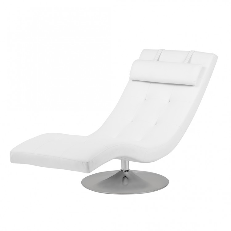 chaise longue de relaxation verve blanc. Black Bedroom Furniture Sets. Home Design Ideas