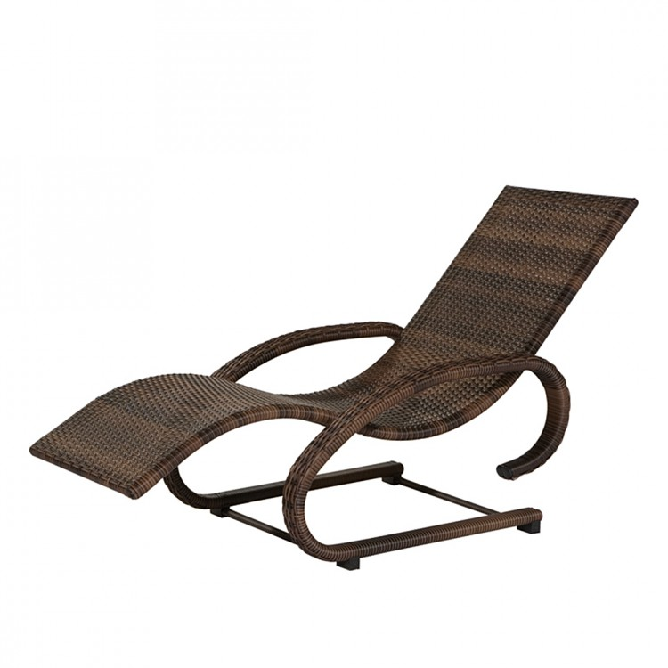 schaukelliege rio maron aluminium polyrattangeflecht braun home24. Black Bedroom Furniture Sets. Home Design Ideas