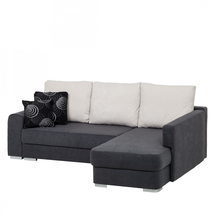 ecksofa mailand schlaffunktion anthrazit online kaufen home24. Black Bedroom Furniture Sets. Home Design Ideas