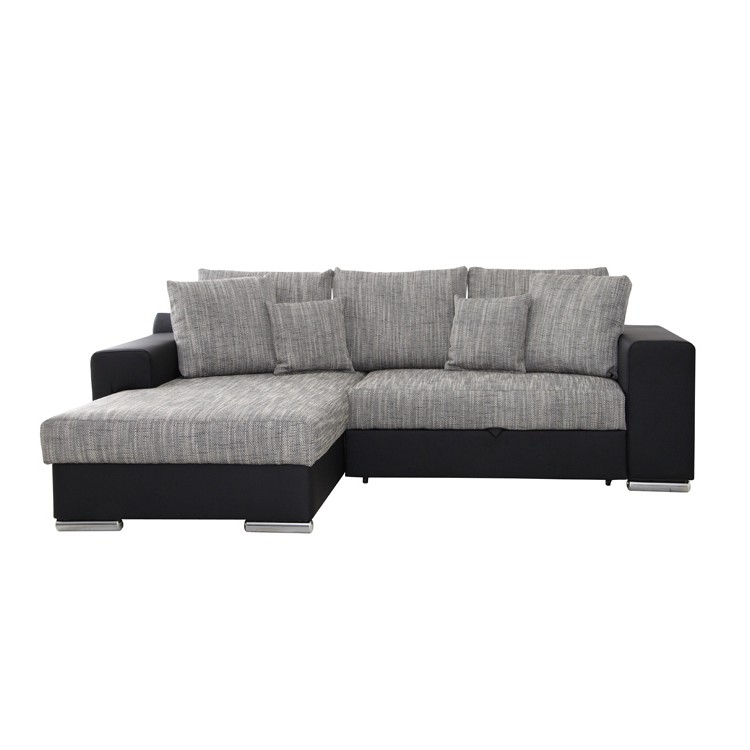 ecksofa schwarz grau longchair links rechts eckcouch sofa couch garnitur neu ebay. Black Bedroom Furniture Sets. Home Design Ideas