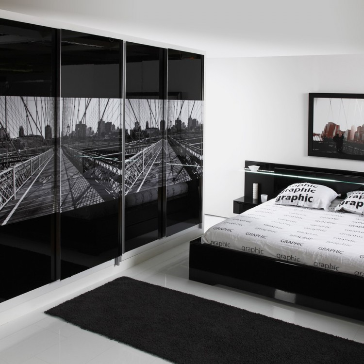 schlafzimmerm bel set 2 teilig schwarz matt schwarz hochglanz home24. Black Bedroom Furniture Sets. Home Design Ideas