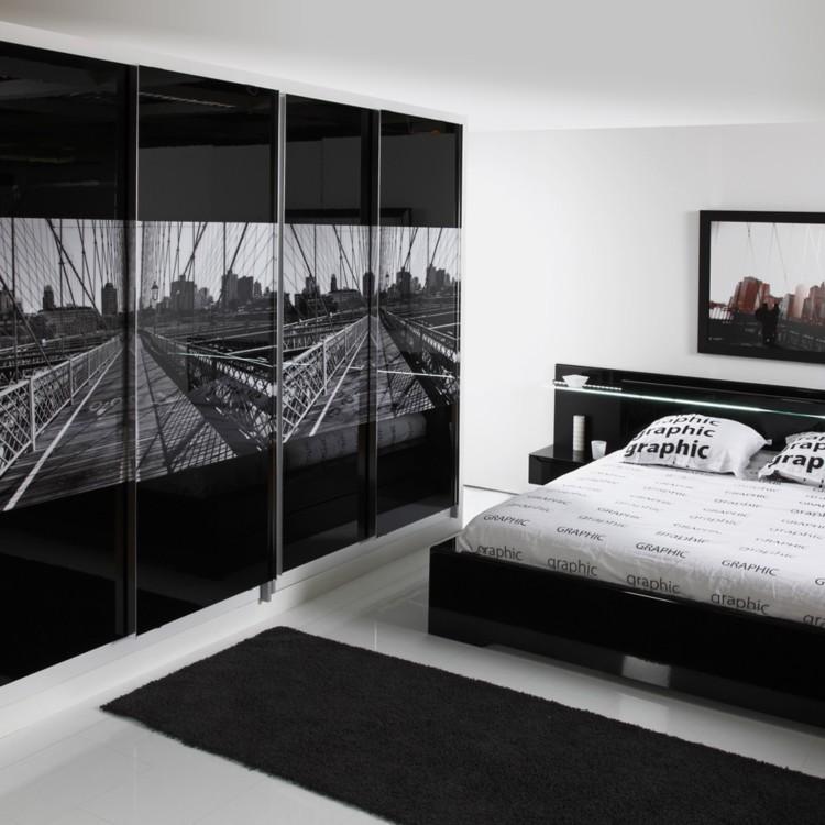 schlafzimmerm bel set 2 teilig schwarz matt schwarz hochglanz home24. Black Bedroom Furniture Sets. Home Design Ideas