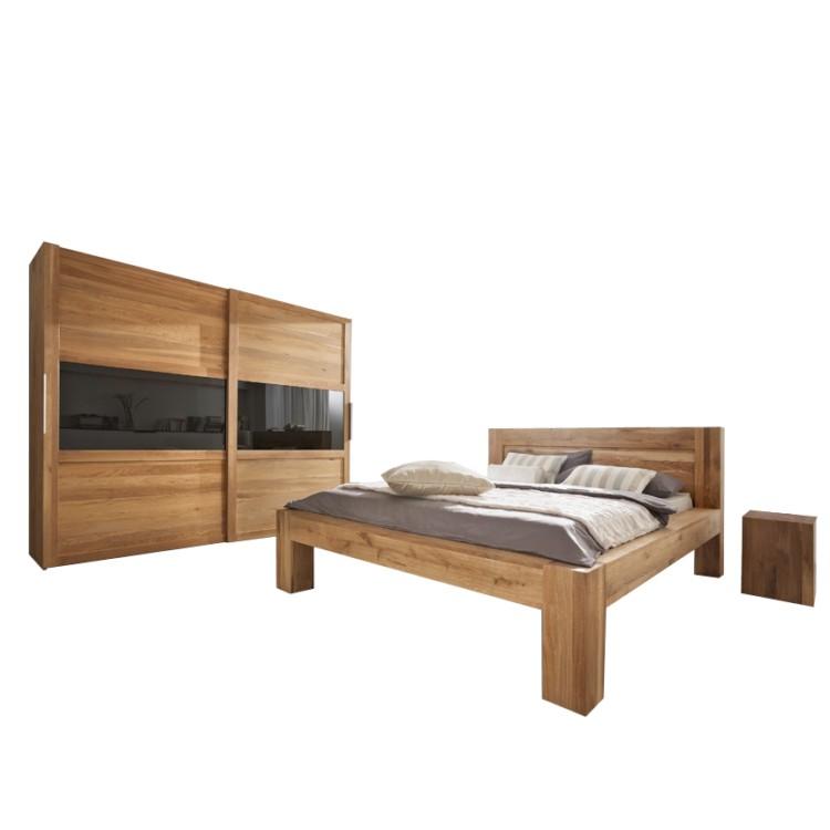 schlafzimmerm bel set furios eiche massivholz kaufen home24. Black Bedroom Furniture Sets. Home Design Ideas