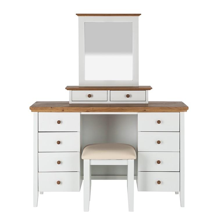 schminktisch celeste inkl hocker wei honigfarben home24. Black Bedroom Furniture Sets. Home Design Ideas