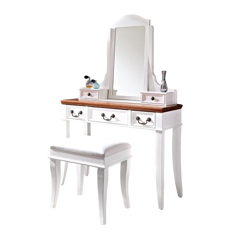 schminktisch labelle mit hocker wei home24. Black Bedroom Furniture Sets. Home Design Ideas