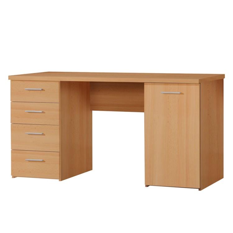 Schreibtisch almeria buche dekor home24 for Buche schreibtisch