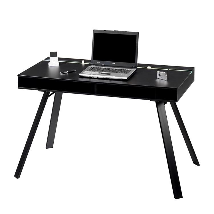 schreibtisch pcl 500 cable catch schwarz schwarz home24. Black Bedroom Furniture Sets. Home Design Ideas
