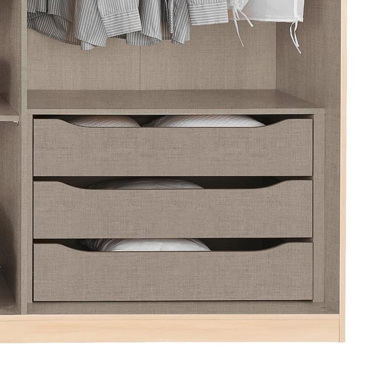 90er schubkasteneinsatz mit 3 schubladen home24. Black Bedroom Furniture Sets. Home Design Ideas