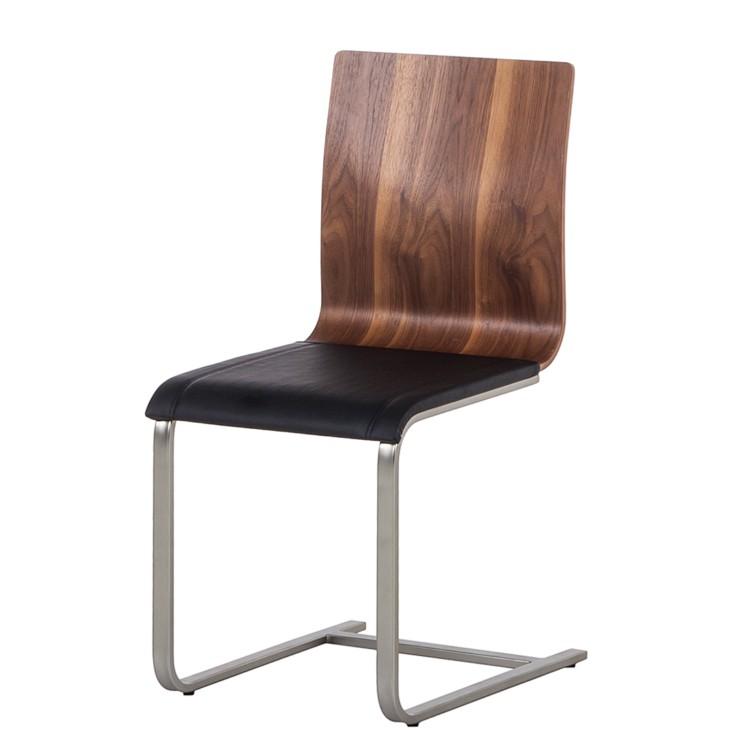 4er set schwingstuhl freischwinger metall walnuss. Black Bedroom Furniture Sets. Home Design Ideas