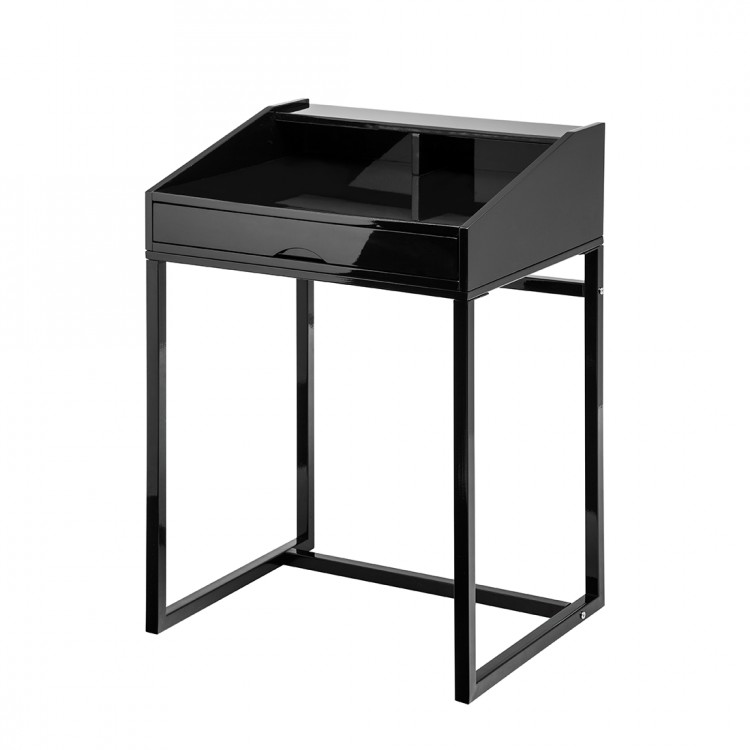 neu sekret r schwarz metall top tisch home24 ebay. Black Bedroom Furniture Sets. Home Design Ideas