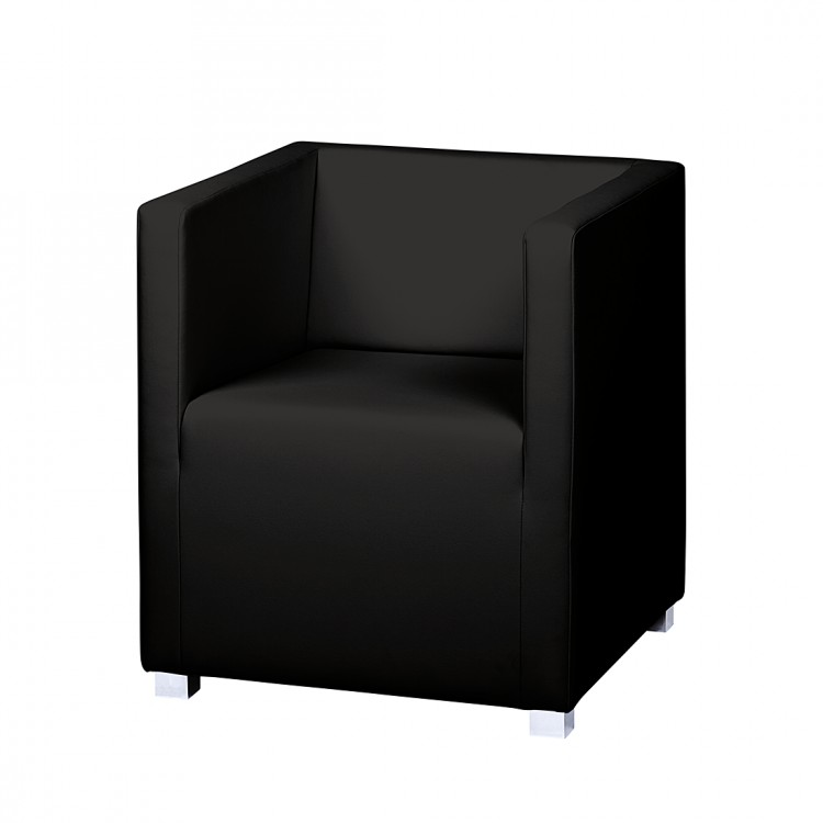 sessel carmen kunstleder schwarz home24. Black Bedroom Furniture Sets. Home Design Ideas
