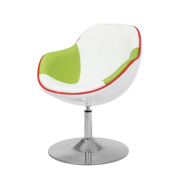 sessel kunstleder wei gr n chrom loungesessel barhocker cocktailsessel sessel. Black Bedroom Furniture Sets. Home Design Ideas