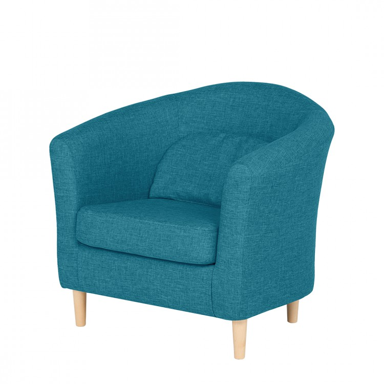 sessel philipp webstoff t rkis home24. Black Bedroom Furniture Sets. Home Design Ideas