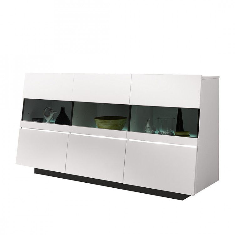sideboard cuuba luxor sb 180 hochglanz wei home24. Black Bedroom Furniture Sets. Home Design Ideas