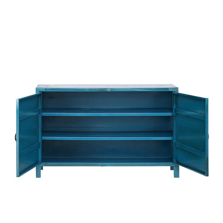 fredriks quenta sideboard metall blau home24. Black Bedroom Furniture Sets. Home Design Ideas