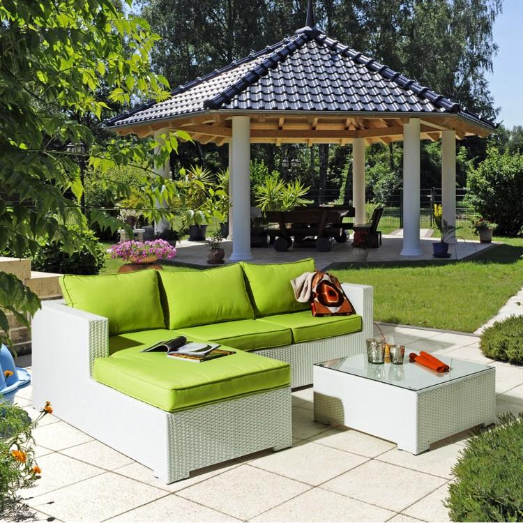 lounge sitzgruppe white comfort 3 teilig polyrattan textil home24. Black Bedroom Furniture Sets. Home Design Ideas