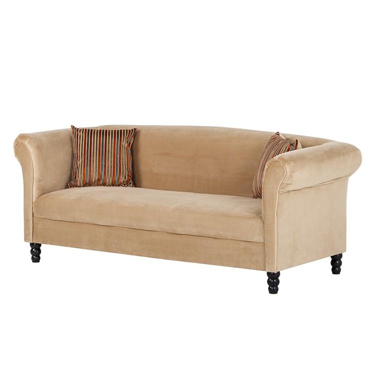 sofa aviva 3 sitzer samt beige home24. Black Bedroom Furniture Sets. Home Design Ideas