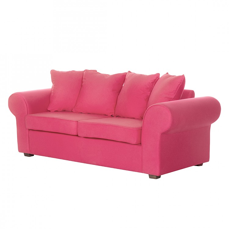 Sofa Colmar (3-Sitzer) - Baumwollstoff Pink